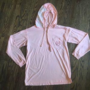 Pink lightweight tunic pullover